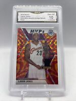 2019-20 Panini Mosaic Lebron James MVP Reactive Orange #298 GMA 10 GEM MINT