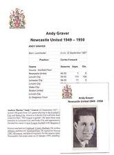 ANDY GRAVER NEWCASTLE UNITED 1949-1950 ORIGINAL HAND SIGNED PICTURE CUTTING