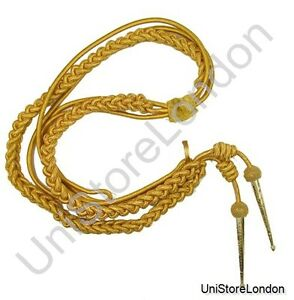 Aiguillette in Gold Wire Cord Army Air Force Navy