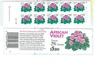 US 2486, 2486c 29c VIOLETS complete booklet of 20 MNH with P# K1111