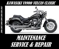 Kawasaki VN900 Vulcan Classic 900 Service Repair Manual Maintenance Tune-Up