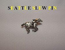 SEATTLE SLEW HORSE RACING JOCKEY PIN TRIPLE CROWN WINNER KENTUCKY DERBY