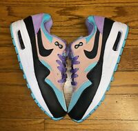 Nike Air Max 1 Nike Day GS Black White Space Purple AT8131 001 Size 3.5Y