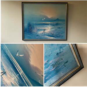 VINTAGE Mid Century David Perry Oil On Board Artwork CAN BE MAILED