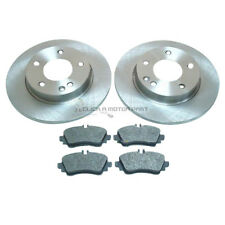 MERCEDES A-CLASS A140 1.4 98-04 FRONT  2 BRAKE DISCS & PADS (SOLID CHECK DISCS)
