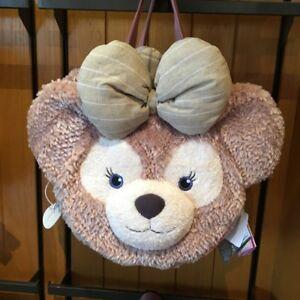 Disney Shellie May Duffy Bear Face Plush Tote Bag Handbag Shoulder Bag Backpack