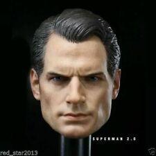 "1/6 Scale Superman Henry Cavill Head Sculpt Toys F 12"" Male Action Figure Body"