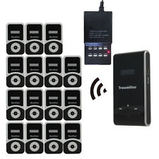 ATG100 Tour Guide Wireless System Transmitter+15pcs 900mA Receiver+Charger Black