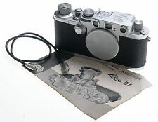 LEICA CHROME BODY 3F RANGEFINDER IIIF M39 MOUNT CAMERA SYNCH CABLE BLACK DIAL