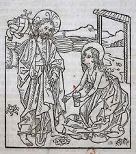 INKUNABEL BLATT HOLZSCHNITT LEBEN CHRISTI MARIA MAGDALENA JOHANN ZAINER ULM 1482