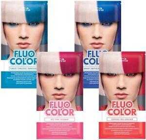 Joanna Fluo Color Hair Colouring Shampoo No Ammonia Semi Permanent Hair Dye