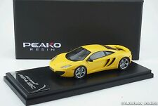 1/43 Peako Mclaren MP4-12C Volcano Yellow with standard wheel Resin #4307YE