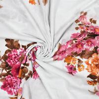 """43 """"Breiter Weißer Handgefertigter Blumenprint Aus Indischer Baumwolle Von Hof"""
