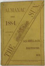 Baltimore Sun Maryland Almanac 1884