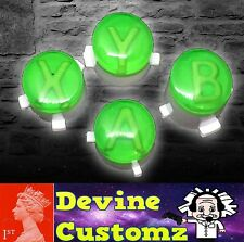 Xbox one controller ABXY custom green buttons mod with custom letters