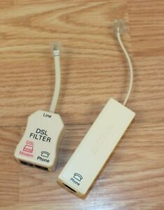 Lot of 2 Suttle 2 Line Phone & DSL Filter Line Conditioner **READ**