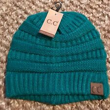New CC Exclusive Adult Beanie Unisex Cable Knit Hat Perfect Ski Hat Sea Green