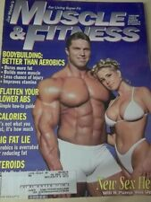 september 1996 Muscle & Fitness sexy cover + Denise Paglia