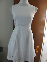 Gap women's white pleated detailed lined cotton dress size 2 NWT