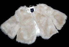 NWOT BABY GAP Ivory Furry Jacket Coat Girl Size 10 STUNNING New