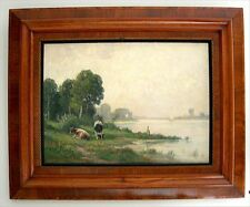 1900-1949 Originalgemälde (1800-1899) aus Leinwand mit Impressionismus auf Landschaft & Stadt