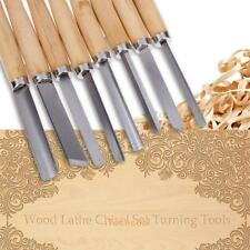 8pc Wood Lathe Chisel Set Turning Tools Woodworking Gouge Skew Parting Hand Tool