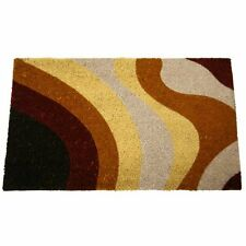 """Rubber-Cal """"Brown Streaks"""" Modern Door Mats, 18 by 30-Inch, New, Free Shipping"""