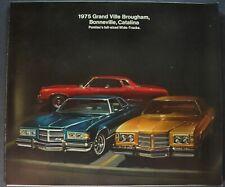 1975 Pontiac Brochure Grand Ville Bonneville Catalina Excellent Original 75
