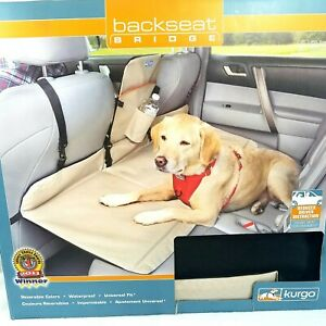 NIB Kurgo Dog Backseat Car Extender Seat Bridge Waterproof Reversible