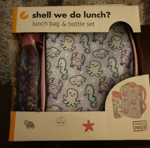 Girls lunch bag and bottle Under The Sea