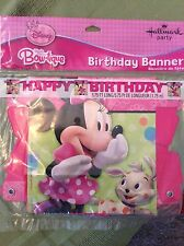 Minnie Mouse Bow-tique Party Supplies 5.75' Happy Birthday Banner