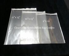 66 Clear Cello Merchandise Bag Variety Pack  9x12  10x13  11x15  Self-Sealing
