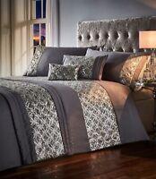 Jocasta Shimmer Dazzle Sequins Duvet Cover/Quilt Cover Set Bedding Slate/Grey
