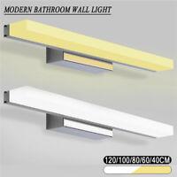 Modern Bathroom Toilet Vanity Wall Makeup Light Mirror Front LED Lamp Waterproof