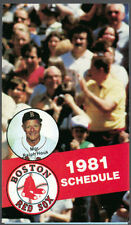 Boston Red Sox Baseball Vintage Sports Schedules