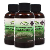 Black Cumin Seed Oil 3-Pack 100% Pure, Cold Pressed, Virgin Organic, 2 fl. oz.