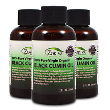 Black Cumin Seed Oil 3-Pack 100% Pure, Cold Pressed, Virgin Organic, 6 fl. oz.