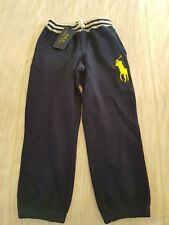 Ralph Lauren Polo Boy's Tracksuit Pants Size 5 Navy Blue Brand New with Tags
