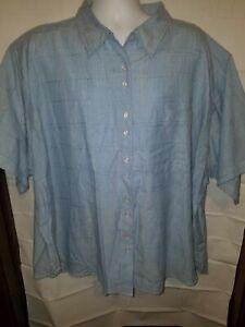 New Citi Craze Women's Cotton Short Sleeved Shirt Blouse PLUS SIZE 6X