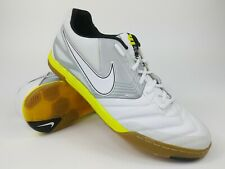 Nike Mens Rare Nike5 Lunar Gato 415124-117 White Yellow Indoor Shoes Size 12