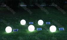 "9.8"" Dia. Remote Solar Power Outdoor Path Light Spot Lamp Yard Garden Lawn Decor"