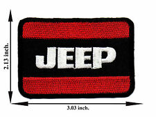 Black + Red Jeep Off Road 4x4 Car Automobile Logo Applique Iron on Patch Sew