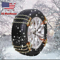 8pc L 3 Chains Tire Snow Wheel Steel Anti-Skid Chain For Snow Ice Sand Mud Road