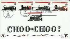 Trains Old Railroad Engines Vermont Scribes Set of 5 on 1 Choo Choo! Calligraphy
