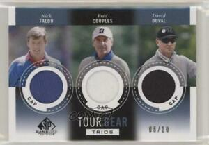 2014 SP Game Used Edition Tour Gear Trios Blue Cap /10 Fred Couples David Duval