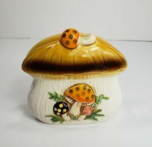 Vintage Merry Mushroom Ceramic Napkin Holder  Sears & Roebuck Co 1976