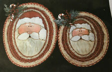 Basket Weaving Pattern Large and Small Santa by Sharon Klusmann