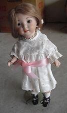 "Vintage C Kidman 1975 Porcelain Old Fashion Ooak Girl Doll 12"" Tall Look"