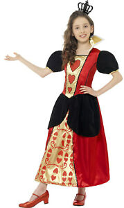 Smiffys Girls Childs Queen of Hearts Fancy Dress Book Week Day Costume Outfit