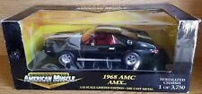 1/18 ERTL AMERICAN MUSCLE 1968 AMC AMX BLACK with WHITE STRIPES bd